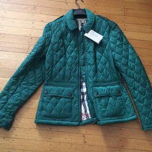 New Burberry Front Zip Coat